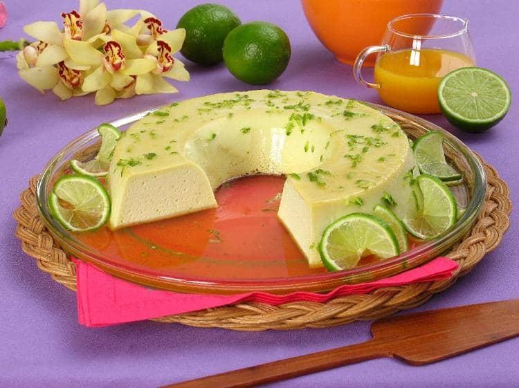 Flan de Limão