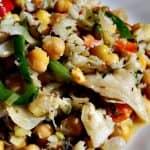 Salada de Grão de Bico e Bacalhau