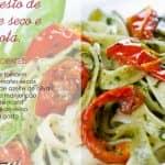 Receita de talharim com pesto de tomates secos e ricota